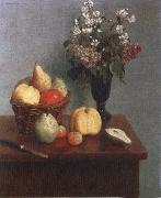 Henri Fantin-Latour Still life with Flowers and Fruit oil painting picture wholesale
